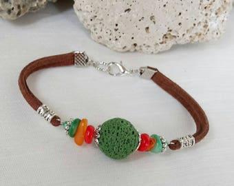 Bracelet with lava stone Lava stone bracelets Beaded bracelet Summer jewelry Gift for her