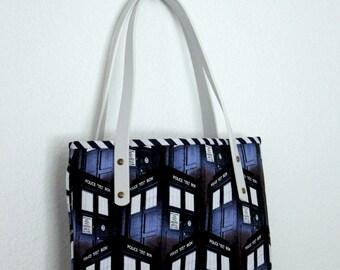Doctor Who TARDIS Leather Tote Bag