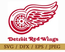 Detroit Red Wings Logo SVG Eps Dxf Jpeg Format Vector Design Digital Download File Silhouette Studio Cameo Cricut Design Cutting Machines