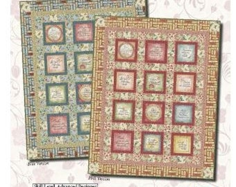 Simple Pleasures Blue Quilt Kit by Christine Adolph