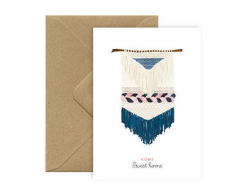 Card A6 - HOME SWEET HOME - weaving