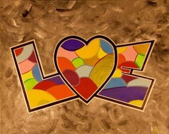 LOVE Colors 16x20
