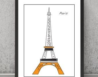 Eiffel Tower print, Eiffel Tower poster, Eiffel Tower art, Eiffel Tower Paris, Paris wall decor, Paris wall art, Paris art, Paris wall decor