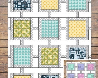 Square Lattice Quilt Pattern