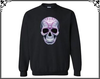 Calavera Sugar Skull Mexican Festival Day Of The Dead Skulls Crewneck Sweatshirt Skull Crewneck Sweater Best Gift For Him Or Her