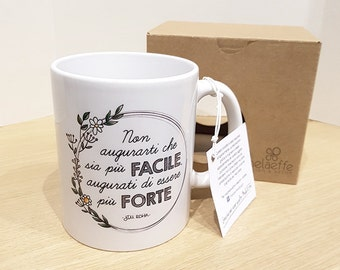 Cup/Mug decorated with illustrations and customizable back | Gift idea |