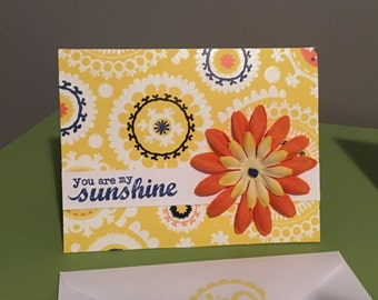 You are my sunshine friendship card