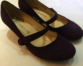Gabriella Rocha Plum Mary Jane Shoes - Preloved Size 7.5
