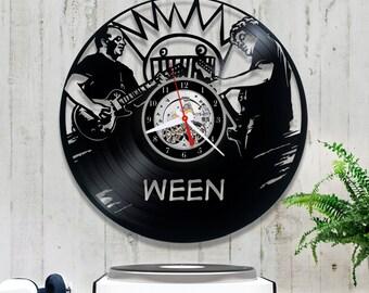 Ween Vinyl Record Clock/Wall Clock 1/3/5/Rock Band Clock/Alternative Rock/Wall Record Clock/Lp Clock/Rock Lover Gift