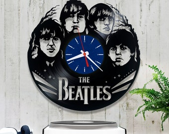 The Beatles Vinyl Clock/Wall clock 2/0/5/Rock Lover Gift/John Lennon Record Clock/Lp Clock/Music Clock/Paul Mccartney Clock
