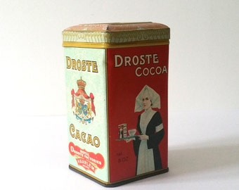 Very old 'Droste' Cacao tin in original state! (2)