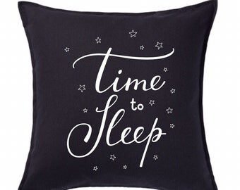 Time to Sleep Custom Throw Pillows