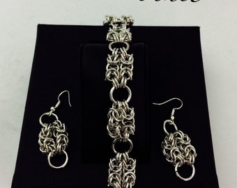 Soft/soft chainmail chainmail jewelry sets