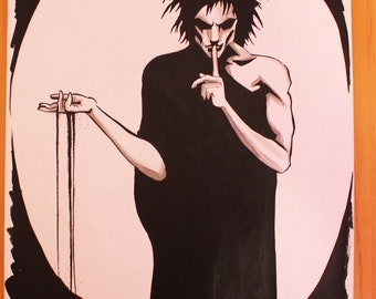 Sandman ink and watercolour drawing