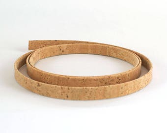 Cork strap natural / cork rope stripe natural