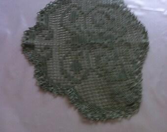 Doily crocheted, filigree, 100% mercerisierte cotton