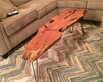 Solid mesquite coffee table or bench