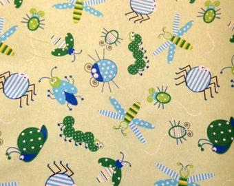 Soft Green Bug Fabric