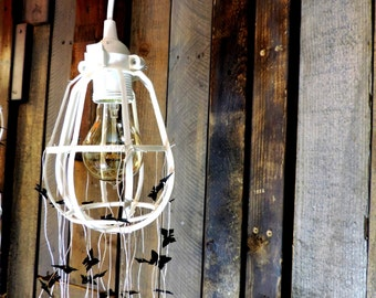 Pendant Cage Lamp 'Light the Way'