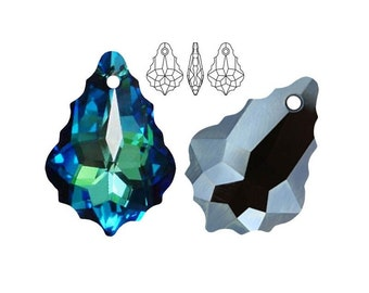 Swarovski Elements, 6090, Baroque, Crystal Bermuda Blue, 22mm, Swarovski Baroque, Baroque crystal, Turquoise crystal, Multicolor crystal
