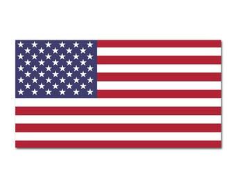 US Flag USA American star stripes banner high grade vinyl bumper sticker decal