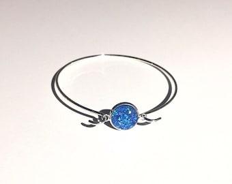 Druzy Bracelet - Mermaid  Blue