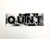 QUNT vinyl sticker.