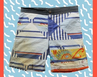 Vintage Piping Hot Boardshorts 80's - 28
