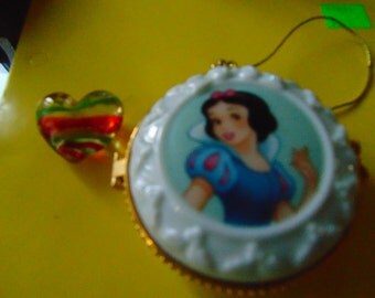 Snow White Christmas Tree ornament with heart trinket  made for Disney
