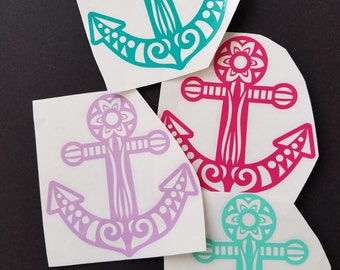 Tribal Anchor Vinyl Decal
