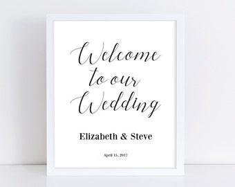 diy wedding sign etsy. Black Bedroom Furniture Sets. Home Design Ideas