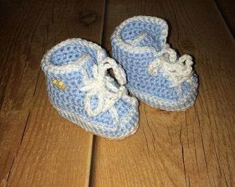 Crochet Baseball Baby Booties