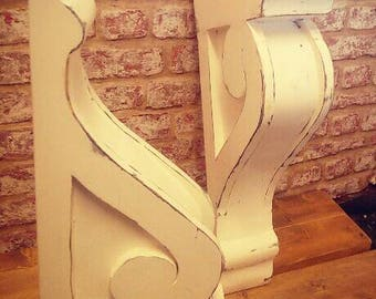 2 Vintage Wooden Victorian style Corbels,wall decor,farmhouse,cottage,stylish,mantel,hallway,doorway