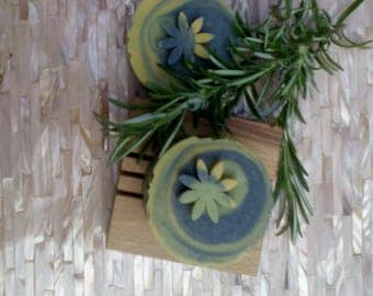 Rosemary & Patchouli, Hemp and Olive Oil Handmade Soap. Vegan, Palm and SL Free