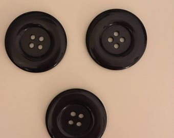 3 buttons 38mm black