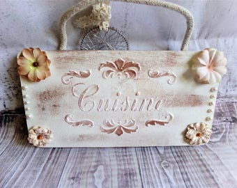 "Door plate ""Kitchen"" shabby chic"