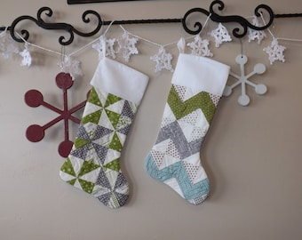 Quilted Christmas Stockings Set of 2
