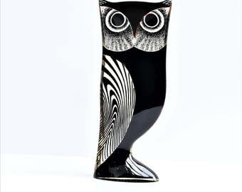 Abraham Palatnik/Lucite/Owl/Sculpture/1960/Owl Figurine/Rare/Modernist/mid-century/Brown/Orange/Black/Large 26 cm/10.2""