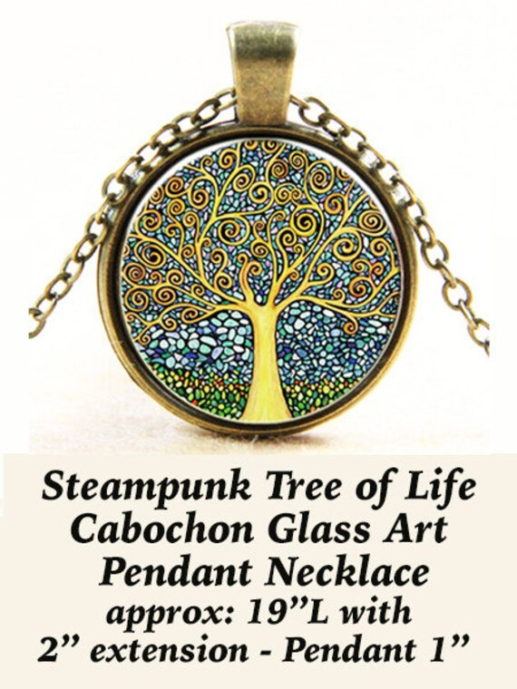 Steam PENDANT Cabochon, Tree of Life **CLEARANCE**