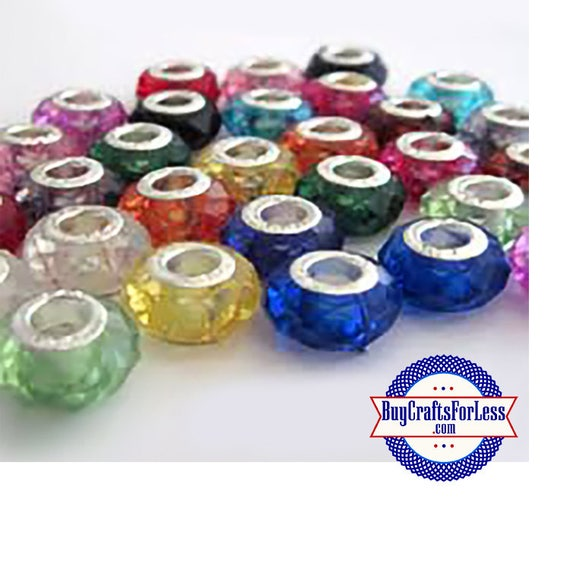 Acrylic BEADs, Faceted, ASSORTED Colors, CHOOSE- 8, 25 or 50 pcs  +FREE Shipping & Discounts*