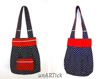 Handbag of PolkaDots, shoulder bags, Slouchy bags