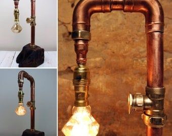 Steampunk Lamp, Industrial Style Lighting, Steampunk Lights, Steampunk table lamp, vintage industrial lighting