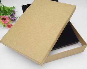 10pcs 15*21*4CM Kraft paper jewelry set box necklace box