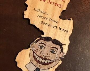 New Jersey Wood Ornament