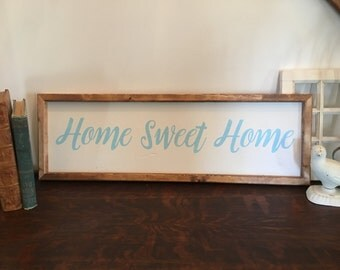 Home Sweet Home Sign, Farmhouse Sign, Home Sweet Home, Wood Sign, Rustic Home Decor, Housewarming,