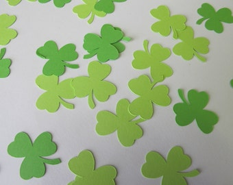 Green Shamrock Confetti - 3 Leaf Clover Confetti - St. Patrick's Day Decorations - Three Leaf Clover Decorations - Irish Wedding Decorations
