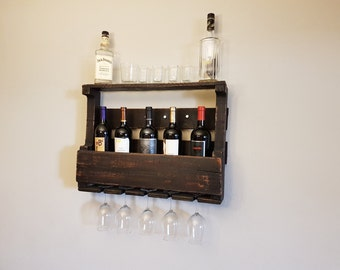 Wine rack made from pallets...