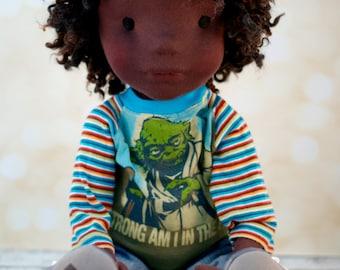 Waldorf handmade cloth artist doll boy by Naptownboys