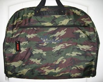 Camo Green Garment bag FREE personalization