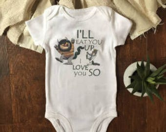 Ill eat you up i love you so onesie® - where the wild things are baby - where the wild things are onesie® - clothes - monster onesie® - baby